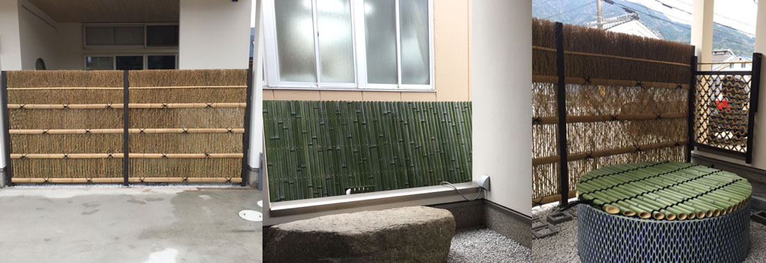 様々な竹垣制作事例・井戸蓋